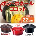 ホーロー鍋 日本製 鋳物 おしゃれ ココット 22cm ボン・ボネール