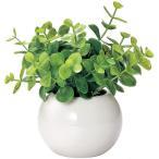 光触媒 インテリアグリーン ラウンドポットユーカリ DR-501 496044D 人工 観葉植物 造花 フェイクグリーン