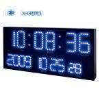誠時 LED Accurat アクラート LED-101BU LED電波時計 ブルー 置時計 掛け時計