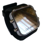 Yahoo!BAGUSゼリーミラータイプ LEDファション腕時計 (ブラック)