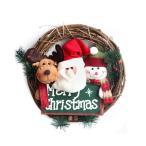 ショッピングクリスマスリース 可愛い 冬新作 クリスマス リース 籐 リング クリスマスオーナメント