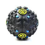 Solidonペット猫・犬用 鳴るボール 鳴るおもちゃ 丈夫 ゴロゴロ動くボール 餌入れおやつボール ストレス解消 S/Mサイズ ball (M,