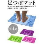 (POMAIKAI) 足型 足ツボ 健康 マット ダイエット 足裏マッサージ 反射区 マップ セット (ブルー)