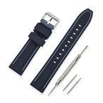 時計 ベルト 腕時計 ベルト 時計 ベルト ラバー 腕時計ストラップ 防水 スポーツ 柔らか - 18mm 20mm 22mm 24mm シリコーン