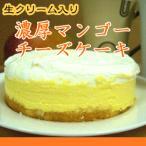 パティシエ自慢のとろーり濃厚♪ 生クリームマンゴーレアチーズケーキ 送料無料