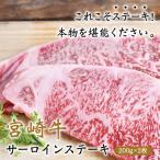 宮崎牛 サーロインステーキ 200g×2枚 ステーキ 日本一 宮崎県産 国産 牛肉 サーロイン ギフト 贈り物 お取り寄せ 送料無料