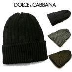 ドルガバ ニット帽 ドルチェ&ガッバーナ メンズ レディース 帽子 Dolce&Gabbana 羊毛 D&G イタリア製 バレンタイン