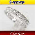 Cartier カルティエ ダイヤ エタニティ リング K18 WG 日本サイズ約7号 #47 バレリーナ 指輪 レディース 26750902