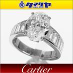 Cartier カルティエ オーバルカットダイヤ(D3.03ct F-IF) 1895 ソリテール Pt950 プラチナ 日本サイズ約11号 #51 GIA鑑定書 30100101