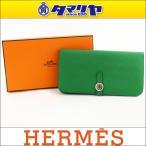 ショッピングHERMES Hermes エルメス Dogon Long ドゴン ロング 財布 バンブー シルバー金具 □R刻印 2014年製造 29570814