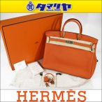 ショッピングHERMES HERMES エルメス バーキン 40 トゴ オレンジ 93 □R刻印(2014年製造) シルバー金具 29700905