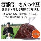 【新豆 平成28年度産】業務用小豆 渡部信一さんの小豆10kg(1kg×10袋) 無農薬・無化学肥料栽培30年の小豆 北海道産