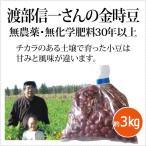 北海道産 無農薬金時豆「渡部信一さんの金時豆(約1kg×3袋)」 無農薬・無化学肥料栽培30年の美味しい金時豆 渡部信一さんは化学薬品とは無縁の生産者