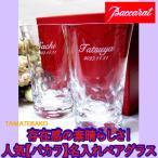 バカラ 結婚祝いペアグラス ペアセット 人気 名入れ   ビールグラス ハイボール