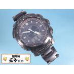 カシオ プロトレック 電波ソーラー PRW-5100YT メンズウォッチ チタンベルト 腕時計 黒
