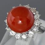 Pt900血赤珊瑚指輪 プラチナ 血赤サンゴリング 12.3mm D 1.23ct/12.0g/9号中古 送料無料