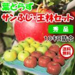 青森県産 葉とらずりんご サンふじ 王林 セット 10kg 40玉前後 秀品 贈答用ランク 送料無料