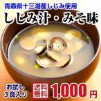 青森十三湖産 しじみ 味噌汁 3パックお試しセット 送料無料