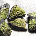 ペリドット アリゾナ産 母岩付き原石 約550g詰め合わせ、2-5個入り  l6220