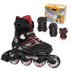 Rollerblade〔ローラーブレード〕 インラインスケート ジュニア SPITFIRE COMBO 〔Black/Red〕【プロテクター付】〔z〕〔SA〕
