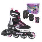 Rollerblade〔ローラーブレード〕 インラインスケート ジュニア SPITFIRE COMBO G〔Black/Pink〕【プロテクター付】〔z〕〔SA〕
