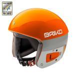 BRIKO〔ブリコ スキーヘルメット〕<2017>SH0001/VULCANO 6.8〔A006 オレンジラバ/ホワイトアッシュ〕〔HG〕〔SAH〕