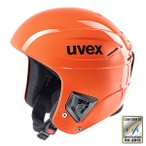 ショッピングヘルメット ★UVEX〔ウベックス スキーヘルメット〕<2017>race +/オレンジ〔レースプラス〕〔z〕