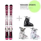 【スキー板セット】Swallow Ski 〔スワロー ショートスキー板〕COSMICSURF NOGGE〔BK / PK〕+ LRX 9.0 + GEN FACTORY CARVE 5【大型商品】