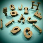 木製切文字アルファベット(英字) 欅3cmの木の文字