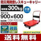 【耐荷重300kg】手押し台車 微音/ハンドル折畳/SPブレーキタイプ SONAE  DSK-R301B2 (900mm×600mm/125φ車輪) ナンシン 【送料無料/代引不可】