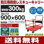 耐荷重300kg 手押し台車 微音/ハンドル固定/パイプフレームタイプ SONAE  DSK-R303B2 (900mm×600mm/125φ車輪) ナンシン 送料無料 代引・個人宅配達不可