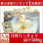 【送料無料】 国産 甘酢らっきょう漬け500g徳用♪国産らっきょうの甘酢漬けのバランスが最高です