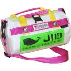 JIB マイクロダッフルバッグ MDMW73 ホワイト×ピンク/グリーンワッペン