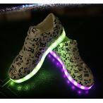 スニーカー LEDスニーカー 光る靴 光るスニーカー 7カラーチェンジスポーツシューズ 充電式LEDスニーカー メンズ レディース シューズ くつ 男女