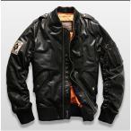 ダウンジャケット レザージャケット ダウンコート 羊革 ラム革 本革 革ジャケット レザーダウン フライトジャケット 羊革バイクジャケット メンズ
