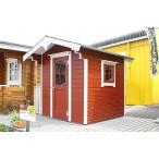 ログハウス ミニログハウス パネルハウス カレラ(人気の1坪サイズのミニハウス)スチールにはない木の魅力、小屋や物置に便利