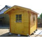 ログハウス リオン(人気の2坪サイズ)スチールにはない木の魅力、小屋や物置に最適