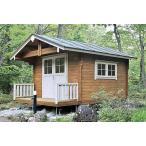 ログハウス キルヤ(人気の3坪サイズ)大きな屋根とベランダ付、小屋や物置に最適