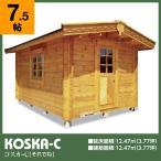 ログハウス コスカC(ログ厚50mm)事務所や書斎に最適の4坪タイプ