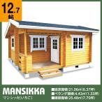 ログハウス マンシッカ(ログ厚75mm)離れ、別荘、店舗に最適の6.5坪タイプ