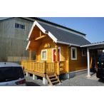 バロB(ログ厚92mm)(キット)遊び心いっぱいのミニログハウス。ロフト付DIY推奨モデル。小屋、子供部屋、コテージにオススメ。