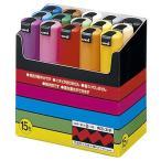 三菱鉛筆 水性マーカー ポスカ 太字角芯 15色(各色1本) PC8K15C 1パック