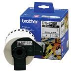 ブラザー ピータッチ DKテープ 長尺紙テープ(大) 62mm×30.48m 白/黒文字 DK-2205 1個