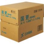 日本製紙 国更(更紙・わら半紙) A4T目 49g/m2 KNZ-A4 1箱(3000枚:1000枚×3冊)