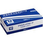 YAMAZEN プラスチックグローブ パウダーフリー M TM−M 1箱(100枚)