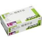 川西工業 天然ゴム極薄手袋 粉なし L #2034 1箱(100枚)