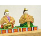 奈良の一刀彫雛人形・内裏雛