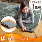 20時から4H限定ポイント5倍 ホットカーペット 1畳 本体 電気カーペット 176×88 長方形 床暖房 暖房器具 ダニ退治 自動切タイマー カーペット マ