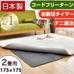 ホットカーペット 2畳 日本製 本体 電気カーペット フローリング 2畳用 175×175 省エネ ダニ退治 国産 暖房器具