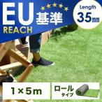 人工芝 ロール  リアル人工芝 芝生 1m×5m U字固定ピン10本入 芝丈35mm 5m 人工芝 ロール 庭 ガーデン